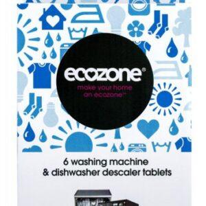 Ecozone Čistič praček a myček na nádobí (6 ks) - odstraní vodní kámen a usazeniny