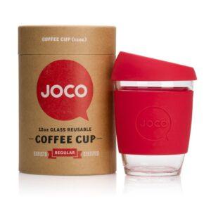 Jococup (354 ml) - červený - z odolného borosilikátového skla