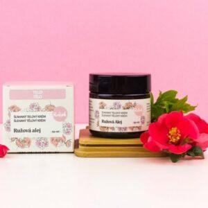 Kvitok Šlehaný tělový krém Růžová alej (60 ml) - pro suchou a namáhanou pokožku