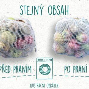 Casa Organica Síťovinový sáček - malý (balení po 3 ks) - z biobavlny