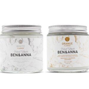 Ben & Anna Bělicí zubní pasta s fluorem (100 ml) - s heřmánkem a šalvějí