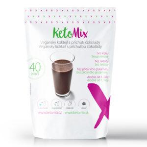 KetoMix Bezlaktózový (veganský) koktejl s příchutí čokolády (40 porcí) 1200 g