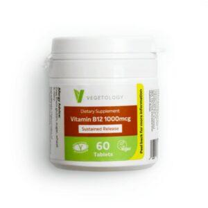 Vegetology Vitamin B12 1000 IU kyanokobalamin (60 tablet) - s postupným uvolňováním